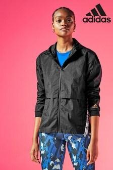 adidas Black Windbreaker Jacket