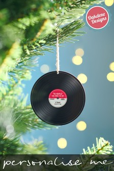 Personalised Record Bauble by Oakdene