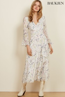 Baukjen White Floral Jasmine Dress