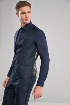 Paisley Jacquard Suit: Waistcoat