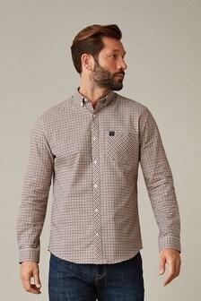 Gingham Long Sleeve Stretch Oxford Shirt