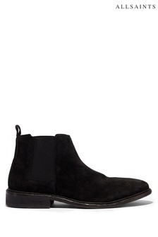 AllSaints Black Rook Chelsea Suede Boots