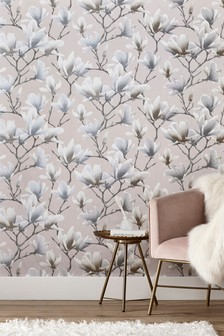 Paste The Wall Glitter Floral Wallpaper Sample