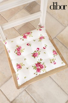 Set of 4 Vintage Floral Seat Cushions by Dibor