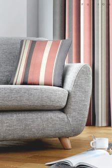 Fusion Blush Pink Whitworth Stripe Cushion