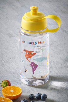 Let's Explore World Map Water Bottle