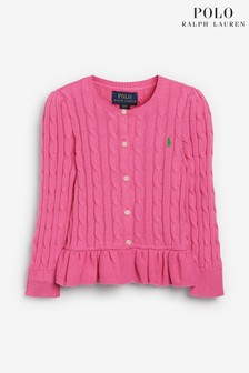 Ralph Lauren Pink Bear Knit Cardigan