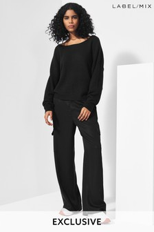 Next/Mix Wide Leg Cargo Trousers
