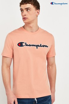Champion Large Script Logo Crew Neck T-Shirt