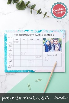 Personalised Family Of 4 Weekly Planner by Oakdene Designs