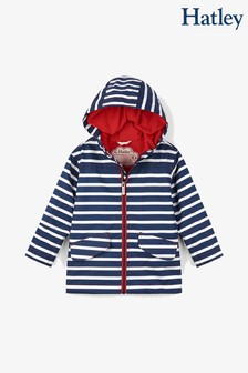Hatley Blue Stripes Microfibre Rain Jacket