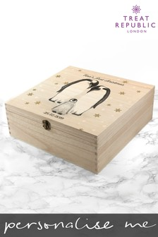 Personalised Penguin First Christmas Box Gift Set by Treat Republic