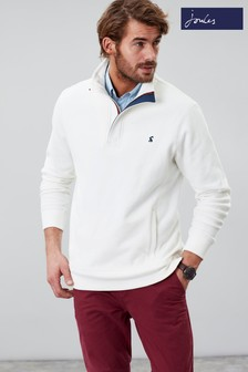 Joules Cream Deckside Half Zip Sweater