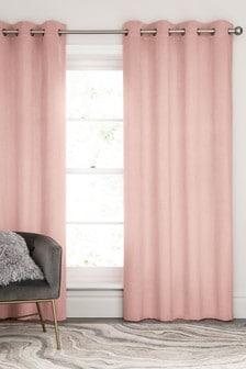 Matte Velvet Unlined Eyelet Curtains