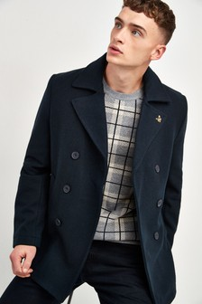 Lyle & Scott Navy Peacoat