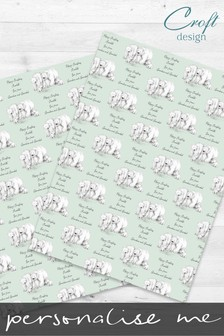Personalised Polar Bear Wrapping Paper by Croft Designs