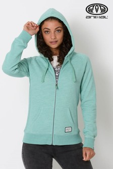Animal Wasabi Green Marl Roo Zip Through Hoody