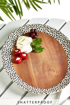 Wood Effect Melamine Platter