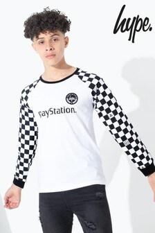 Hype. PlayStation™ Checkerboard Kids Long Sleeve T-Shirt
