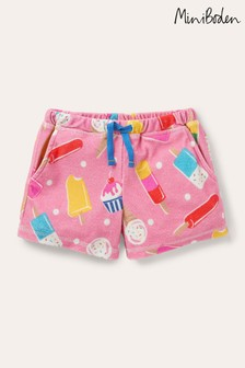 Boden Pink Towelling Shorts