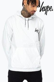 Hype. White Crest Men's Fishtail Jacket