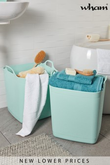 Set of 2 40L Flexi Store Graduated Square Tubs by Wham