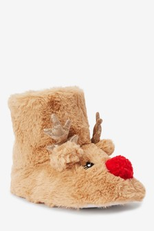 Reindeer Slipper Boots (Older)