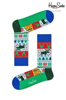 Happy Socks Multi Fairisle Pattern Socks