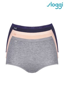 Sloggi Basic+ Maxi Briefs Three Pack