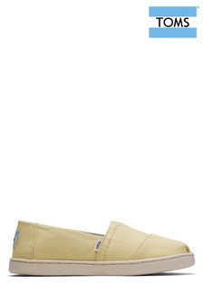 TOMS Youth Yellow Espadrilles