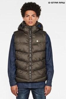 G-Star Grey Whistler Hooded Vest