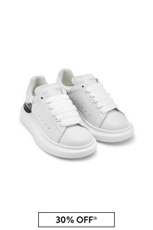 Unisex White 100% Leather Trainers