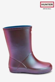 Hunter Kids Pink Nebula First Classic Wellington Boots