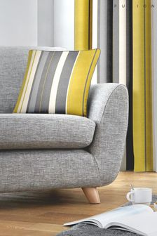 Fusion Ochre Yellow Whitworth Stripe Cushion