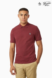 Original Penguin® Poloshirt, Featuring Pete The Penguin Chest Placement Logo And Ribbing Detail On Collar And Arm Opening