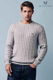 Crew Clothing Company Grey Regatta Cable Crew Jumper