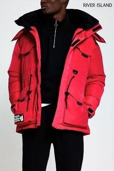 River Island Red Hiker Jacket