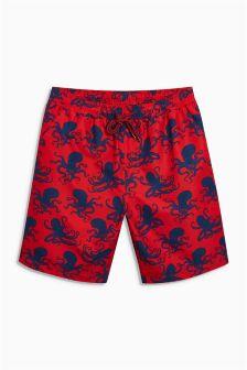Squid Print Swim Shorts