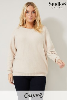 Studio 8 Brown Stephie Cable Knit Jumper