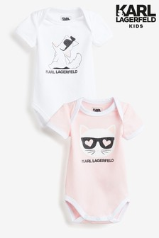 Karl Lagerfeld Kids Bodysuits Two Pack