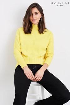 Damsel In A Dress Yellow Romilly Zip Jumper