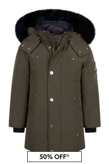 Moose Knuckles Kids Khaki Parka