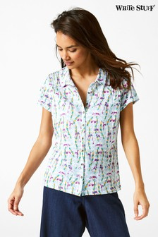 White Stuff Memon Printed Jersey Shirt