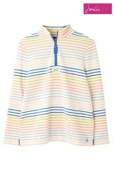 Joules Cream Pip Casual Half Zip Sweatshirt