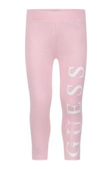 Girls Pink Icon Leggings
