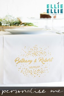 Personalised Confetti Table Runner by Ellie Ellie