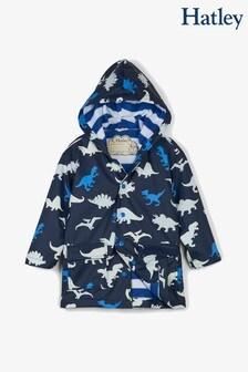 Hatley Blue Dino Herd Colour Changing Classic Raincoat