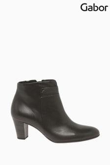 Gabor Matlock Espresso Leather Fashion Ankle Boots