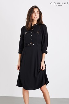Damsel In A Dress Black Liberty Trench Dress