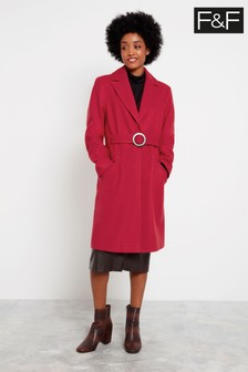 F&F Hot Pink Wrap Coat